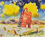 Burgfried Öl auf Leinwand 100 x 120 cm, 2015