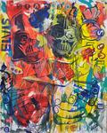 Elvis Acryl auf Leinwand 120 x 100 cm, 2016