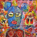 Fire! Acryl auf Leinwand 80 x 80 cm, 2017