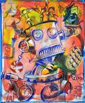 Goethe II Acryl auf Hartfaser 60 x 50 cm, 2017
