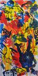 Superhelden Acryl auf Leinwand 200 x 100 cm, 2016