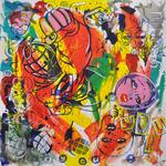 You ! Acryl auf Leinwand 100 x 100 cm, 2016